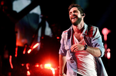 Nashville, TN, USA; Thomas Rhett performs during the 2018 CMA Music Festival at Nissan Stadium