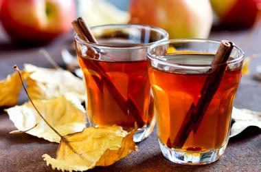 Apple cider. Orange, christmas.