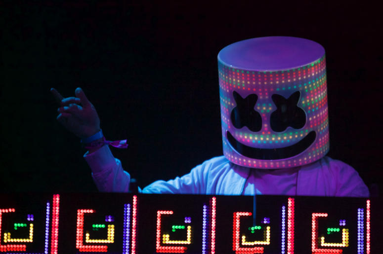 Marshmello played The Other stage at the Bonnaroo Music and Arts Festival.