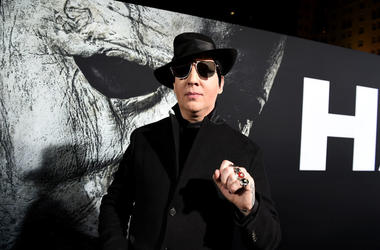 Marilyn Manson arrives at the premiere of Universal Pictures' 'Halloween' at the TCL Chinese Theatre on October 17, 2018 in Los Angeles, California