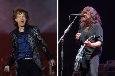 Mick Jagger and Dave Grohl