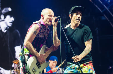 Flea and Anthony Kiedis of The Red Hot Chili Peppers