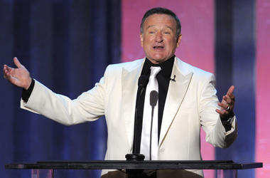 Actor Robin Williams speaks onstage during the 38th AFI Life Achievement Award honoring Mike Nichols held at Sony Pictures Studios on June 10, 2010 in Culver City, California. The AFI Life Achievement Award tribute to Mike Nichols will premiere on TV Land