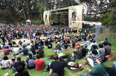 SAN FRANCISCO, CA - AUGUST 12: Musician Tom Morello of The Nightwatchman performs onstage at the Sutro Stage during Day 3 of the 2012 Outside Lands Music and Arts Festival at Golden Gate Park on August 12, 2012 in San Francisco, California. (Photo by Trix