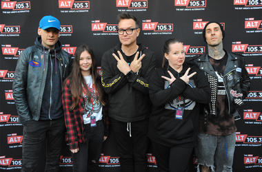 ALT 105.3 BFD 2018 artists Blink-182 with fans at their exclusive Meet & Greet at Concord Pavilion. (Photo credit: ALT 105.3)