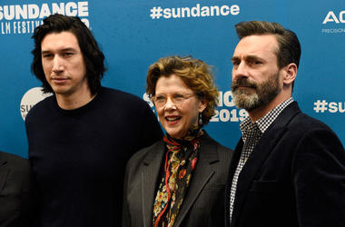 Adam Driver, from left, Annette Bening and Jon Hamm