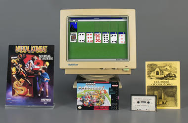 In this April 10, 2019 photo provided by the Strong Museum in Rochester, N.Y., the video games inducted into the museum's World Video Game Hall of Fame on Thursday, May 2 are shown. (The Strong Museum via AP)