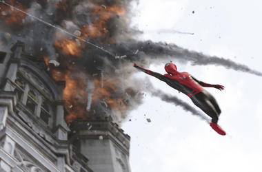 """This image released by Sony Pictures shows a scene from """"Spider-Man: Far From Home."""" (Columbia Pictures/Sony via AP)"""