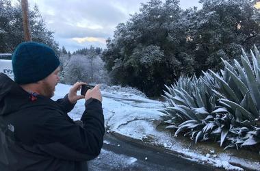 Santa Cruz Mountains Snow (Photo credit: Matt Bigler/KCBS Radio)