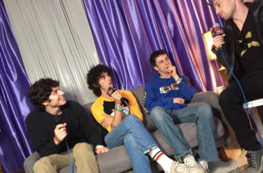 Dallas with Braeden Lemasters, Dylan Minnette and Cole Preston of Wallows