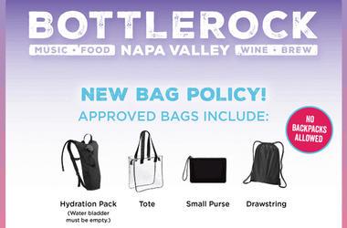 BottleRock bag policy