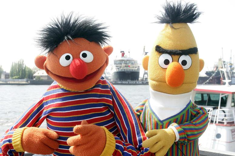 "Ernie and Bert of ""Sesame Street"""