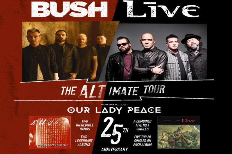 Bush + LIVE + Our Lady Peace - The Altimate Tour   THE NEW ALT 105 3