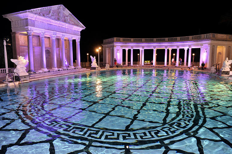 Visitors can now swim in the hearst castle pools but it - Hearst castle neptune pool swim auction ...