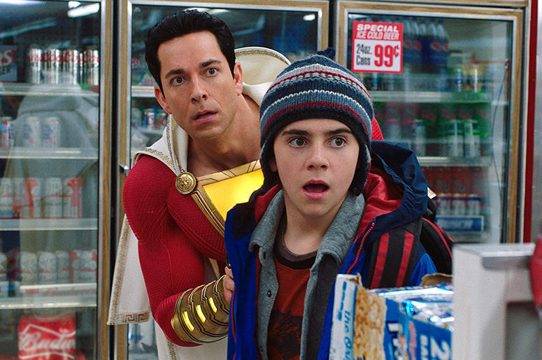 "Zachary Levi and Jack Dylan Grazer in ""Shazam!"""