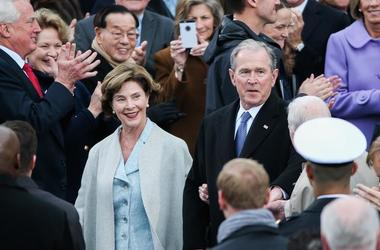 George W and Laura Bush