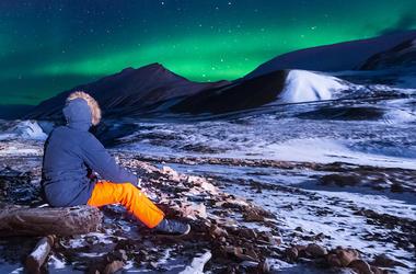 Norway, Winter, Frozen Lake, Nature, Aurora Borealis