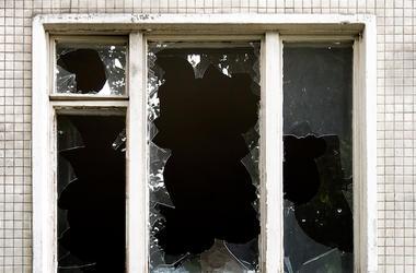 Broken Window, Window, Glass, Building