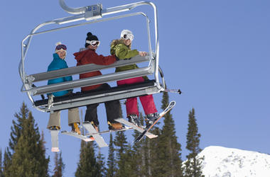 People Thrown Off Ski Chair