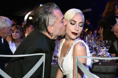 Christian Carino (L) and Lady Gaga during the 25th Annual Screen ActorsGuild Awards at The Shrine Auditorium on January 27, 2019 in Los Angeles, California