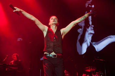 Dave Gahan of Depeche Mode performing live on stage