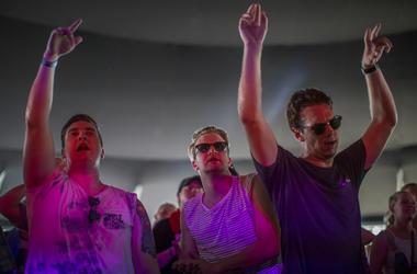 Men dancing at festival