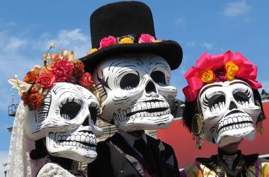 Day of the Dead, Dia de los Muertos, Parade, Holiday, Death Masks, Catrinas, Skulls