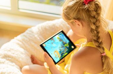 Kid on an iPad