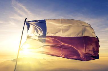Texas, Flag, Waving, Sunrise, Mist, Fog