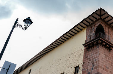 Street Light, Corner, Building, House, Downtown, Cusco, Peru