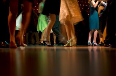 High School, Students, Prom, Dancing, Lights, Dance Floor