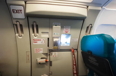 Airplane, Plane, Emergency Exit, Door