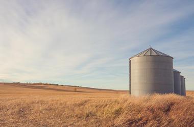 Grain Silo, Farm, Ranch, Field, Autumn