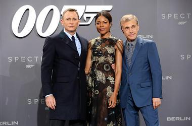 Daniel Craig, Naomie Harris and Christoph Waltz