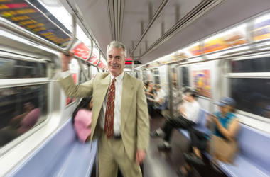 Guy Riding the subway
