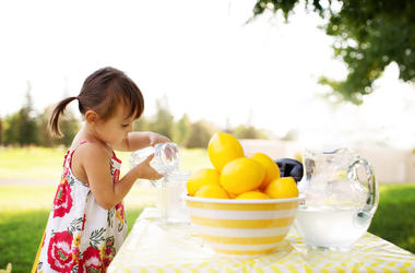 Little Girl With A lemonade stand