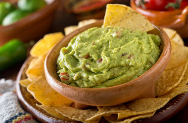 Guacamole, Chips, Avocado, Lime, Tomato