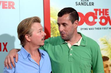 Adam Sandler and David Spade