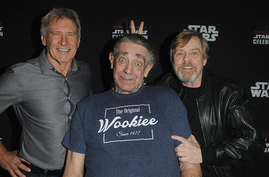 Harrison Ford, Peter Mayhew & Mark Hamill