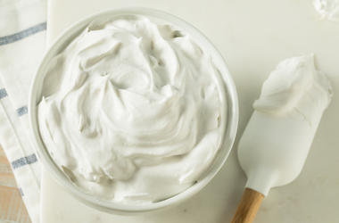 Frosting, Bowl, Whipped Cream, Spoon, Rubber Spatula