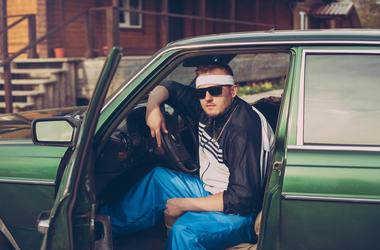 2000's Guy in his car