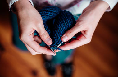 Woman, Hands, Knitting, Yarn, Needles, Wool