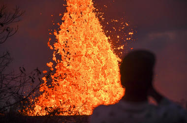 Hawaii,Tourists,Arrested,Selfie,Lava,Eruption,Volcano,Mt. Kilauea,National Guard,Police,Fine,Jail,100.3 Jack FM
