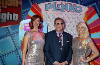 """The Price Is Right"" host Drew Carey, Plinko Games"