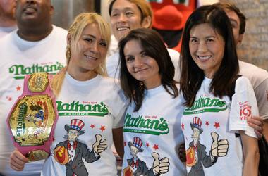 Miki Sudo, Michelle Lesco and Juliet Lee