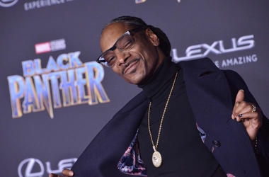 "Snoop Dogg arrives at the Marvel Studios' ""Black Panther"" Los Angeles"