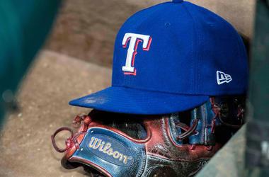Texas Rangers, Hat, Wilson Glove, Baseball, Dugout, Dirty