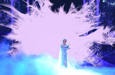 Caissie Levy, Elsa, Frozen, Broadway, Tony Awards, 2018, Snow Background