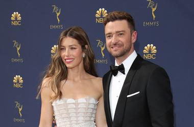 Jessica Biel, Justin Timberlake, Red Carpet, 70th Emmy Awards, 2018
