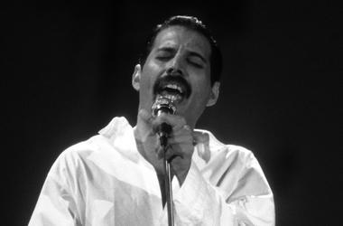 Freddie Mercury, Queen, Live Aid, Black and White, 1985, Jacket